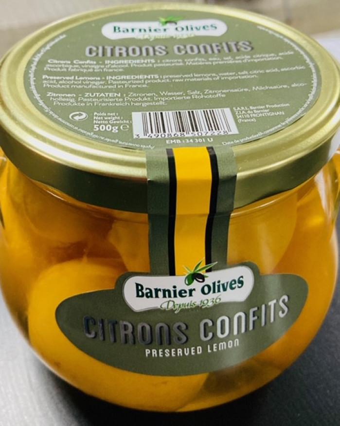 citrons confits barnier