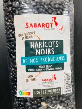 haricots noirs 1 kilo