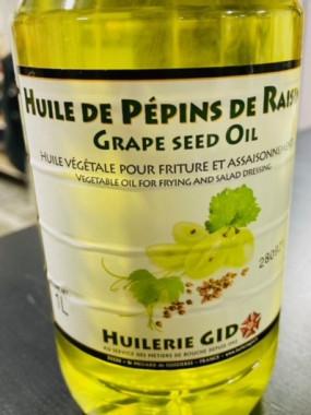 huile de pépins de raisins 1 litre