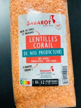 lentille corail 1 kilo