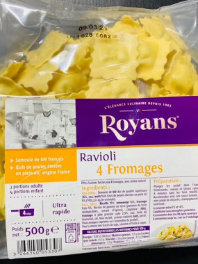 ravioli 4 fromages