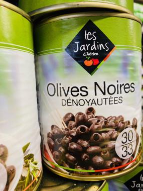 olive noir dénoyautées 800gr